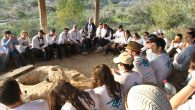 A Birthright session at an archeological site in Israel. Courtesy of Birthright Israel