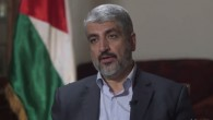 Hamas political chief Khaled Mashaal speaks to Michael Isikoff of Yahoo News in Doha, the Qatari capital, August 2014. (screen capture, Yahoo News)