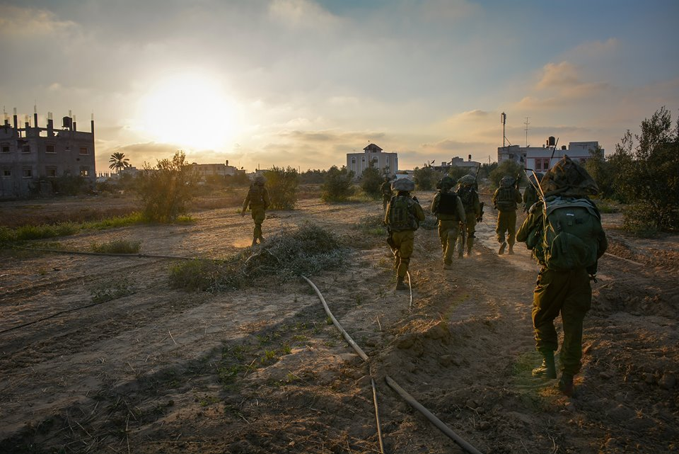 Israeli army troops operating in Gaza during Operation Protective Edge (photo credit: IDF Spokesperson's Unit)