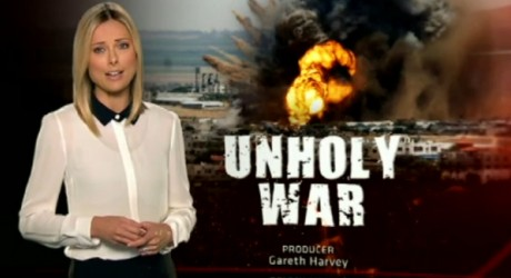Screen shot of Australian program 60 Minute's 'Unholy War' story.