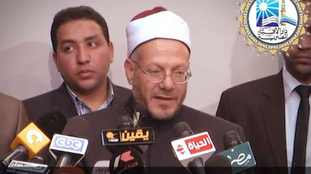 The Grand Mufti of Egypt  Shawki Allam. (screen capture: YouTube/dar aliftaa)