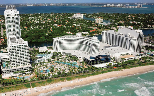 The Fontainebleau in Miami Beach, designed by the Russian Jewish architect Morris Lapidus. JTA