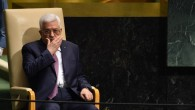 Palestinian Authority President Mahmoud Abbas after addressing the 69th Session of the UN General Assembly in New York, September 26, 2014. (photo credit: AFP/Timothy A. Clary)