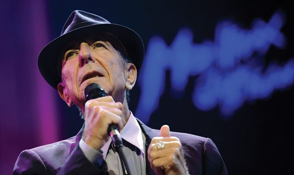 Leonard Cohen: His songs will serve as inspiration for a New Jersey rabbi's High Holy Days sermons. Getty Images