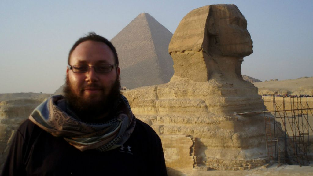 Journalist Steve Sotloff in Egypt, 2011. (photo credit: Facebook/Oren Kessler)
