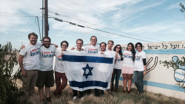 Students from the University of New Mexico Hillel with Israel Fellow reservist Oded Gvaram. (courtesy)