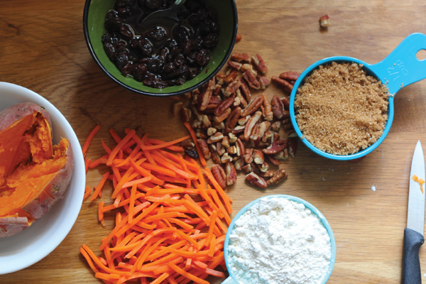 Let them eat … tzimmes, but as a cake, with carrots, sweet potatoes and booze-soaked raisins. Amy Kritzer/JW