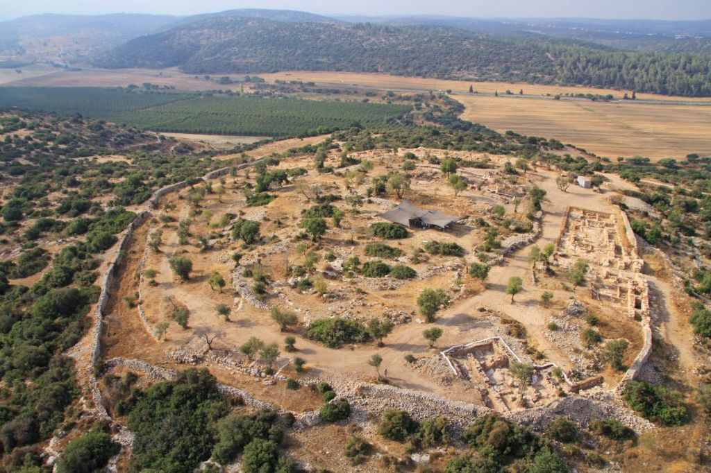 Aerial photo of Qeifaya (photo credit: Hebrew University and the Israel Antiquities Authority.)