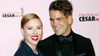 Scarlett Johansson and her husband Romain Duraic