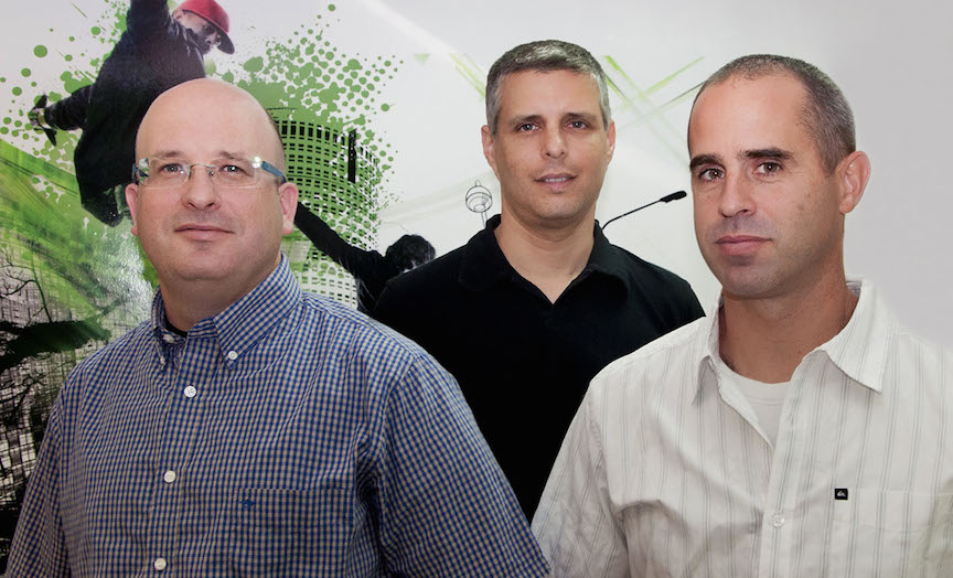 (L. to R.) Side-Kick Games founders Guy Bendov, Tal Raviv, and Assaf Sela (Photo credit: Courtesy)