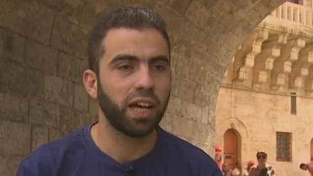 Yosef Abobaker speaking to CNN. (Screen capture: CNN)