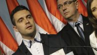 Far-right Jobbik party leader Gabor Vona after winning 20 percent of the country's parliamentary election. Getty Images