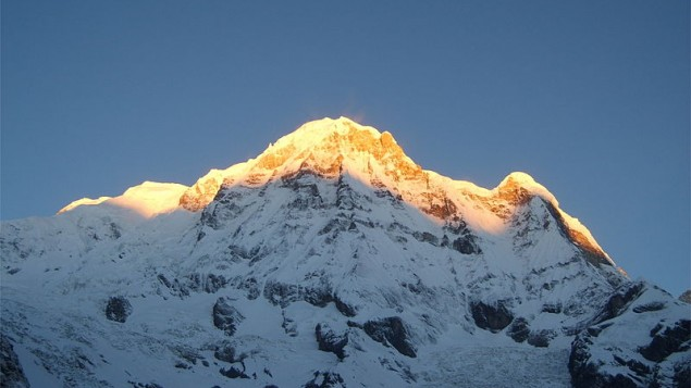 Annapurna South, Nepal (photo credit: Wikimedia Commons/CC BY-SA 3.0)