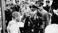 Himmler at Dachau in 1936 (photo credit: Friedrich Franz Bauer / Wikimedia Commons / German Federal Archive)