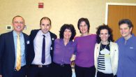 Leaders of the Israeli group The Aguda and Westchester's Mosaic at recent event.  Courtesy of Bina Raskin