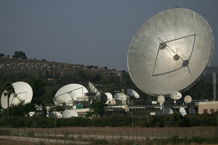 Illustrative photo of a satellite dish (Nati Shohat/Flash90)