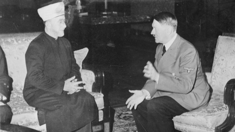 Hitler hosts Grand Mufti Haj Amin al-Husseini in 1941 in Germany. (Heinrich Hoffmann Collection/Wikipedia)