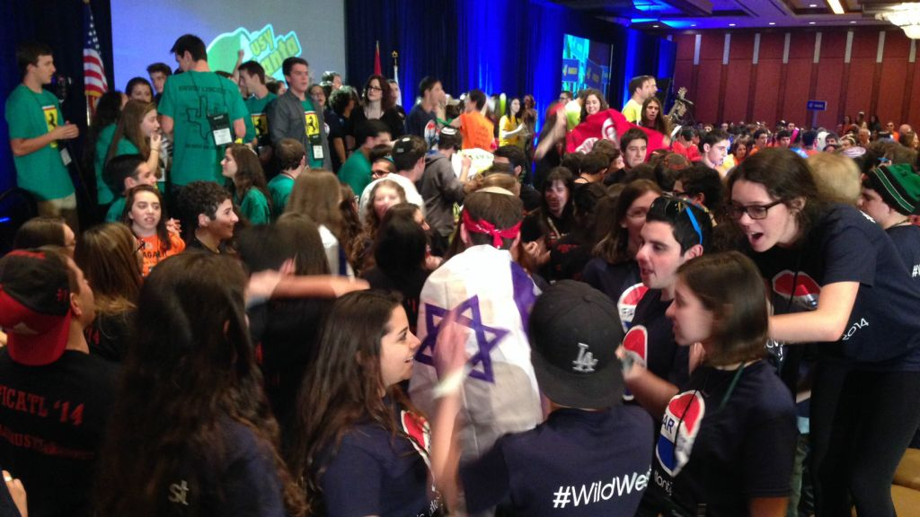 Some 800 teens attended the annual United Synagogue Youth international conference this week in Atlanta. (courtesy)