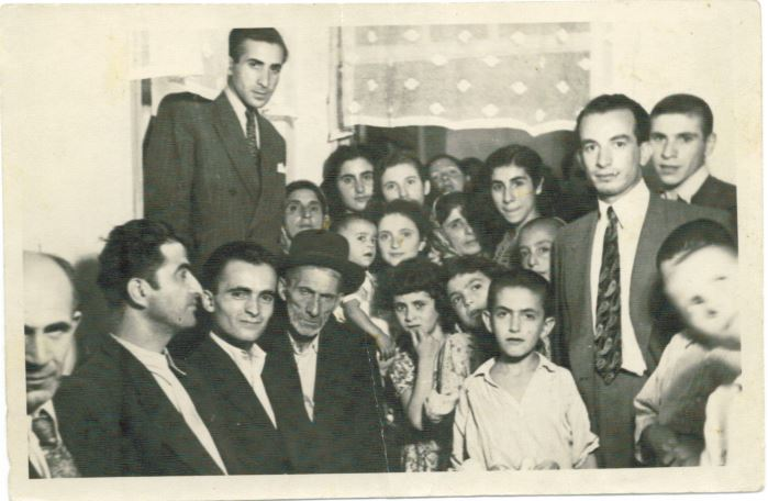 Among the family pictured here, David Rashti's paternal grandfather, paternal grandmother, Aunt Mahin, Aunt Iran, father Atta, Uncle Soleymon, mother Shahin, and Aunt Ferdose. (courtesy/JTA)