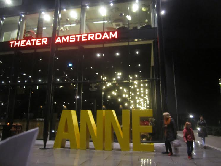 The Theater Amsterdam, built in 2013 to house the production 'Anne,' based on the writings of Anne Frank (photo credit: Matt Lebovic/The Times of Israel)