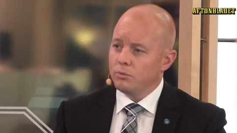 Björn Söder, party secretary of the far-right Sweden Democrats party (Photo credit: Youtube screen capture)