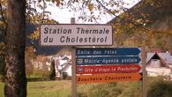 A sign pointing the way to one of the area's thermal springs.  David Koral