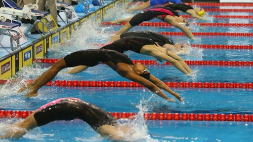12th FINA World Swimming Championships in Doha, December 6, 2014 (photo credit: AFP PHOTO/Marwan Naamani)