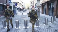 Soldiers patrol in Antwerp, Belgium, home to many Orthodox Jews in the city's diamond industry.  Getty Images