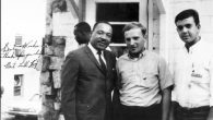 The author, right, with Mickey Shur (now Rabbi Moshe Shur), center, and Rev. Martin Luther King Jr.