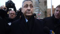 Sheldon Silver walks out of a New York courthouse Thursday after posting bail. Spencer Platt/Getty Images