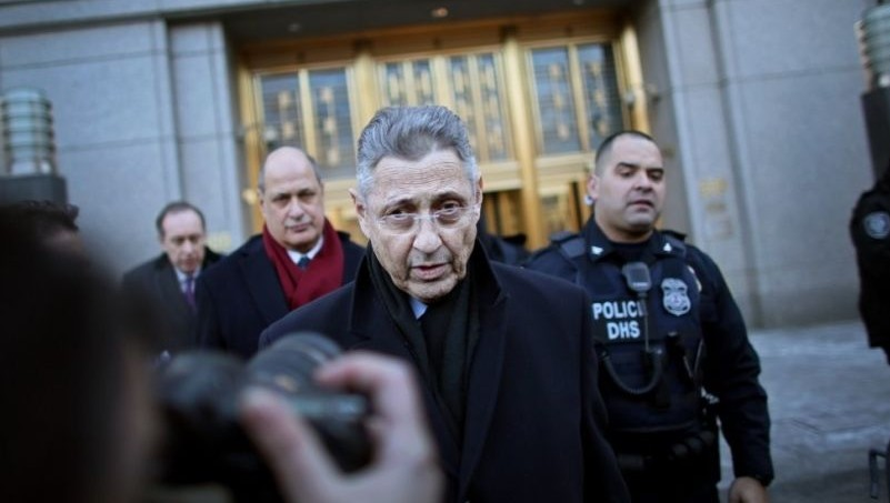 New York state assembly speaker Sheldon Silver outside federal courthouse after his arraignment on bribery and corruption charges Jan. 22 2015