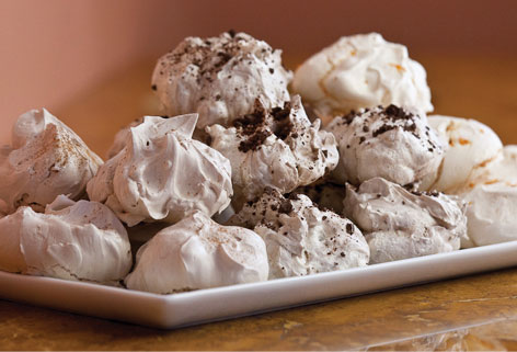 Shoyer swears by her meringues, a favorite gluten-free dessert, made with chocolate chunks, orange vanilla or cinnamon (Courtesy Paula Shoyer)