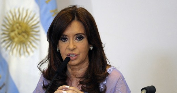 Argentine President Cristina Kirchner in Buenos Aires on January 30, 2015. (photo credit: AFP PHOTO / ALEJANDRO PAGNI)