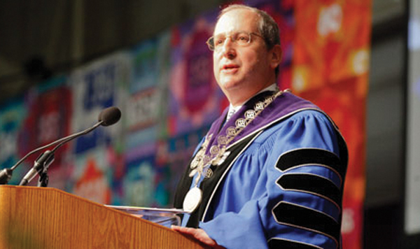 Brandeis President Frederick Lawrence: Seen as unpopular among faculty members.
