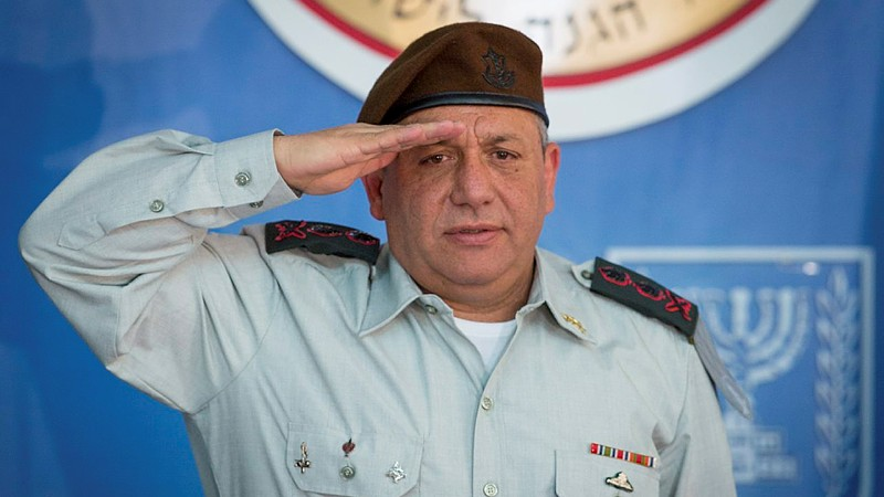 New IDF Chief of Staff Gadi Eisenkot seen at a ceremony held in his honor in Jerusalem, on February 16, 2015. (photo credit: Miriam Alster/Flash90)