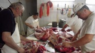 Kosher meat being prepared