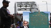 Thousands marched over the Edmund Pettus Bridge in Selma Saturday to commemorate Bloody Sunday a half-century ago.