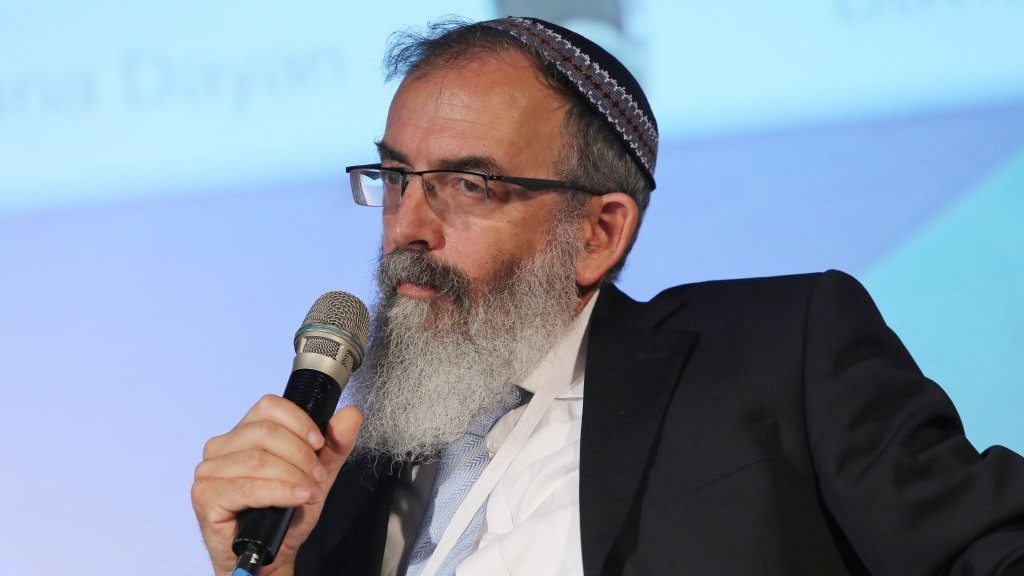 Rabbi David Stav, cofounder and chairman of the Tzohar rabbinical organization.  June 20, 2013. (Flash 90, File)