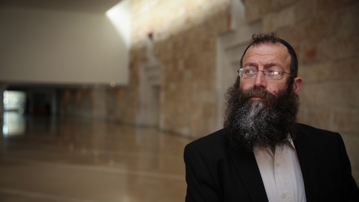Right-wing politician Baruch Marzel at the Supreme Court in Jerusalem February 17, 2015. (Photo credit:Hadas Parush/FLASH90)