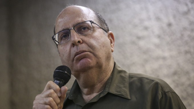 Defense Minister Moshe Ya'alon speaks to students at the Hebrew University in Jerusalem, on March 4, 2015. (Photo credit: Hadas Parush/Flash90
