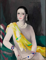 Marie Laurencin, Portrait of Helena Rubinstein, 1934 (photo credit: Courtesy The Jewish Museum, collection, Stowe, Vermont / copyright Fondation Foujita / Artists Rights Society (ARS), New York / ADAGP, Paris 2014)