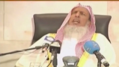 Saudi Arabia's top Muslim cleric Sheikh Abdul Aziz bin Abdullah (photo credit: YouTube screen grab)