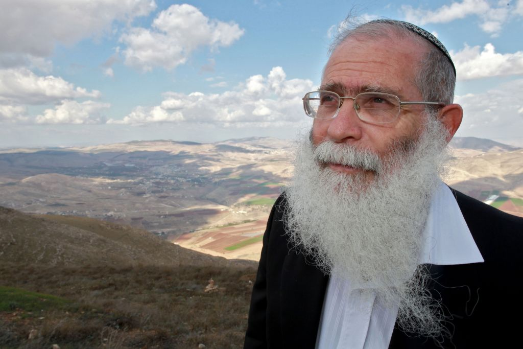 Rabbi Elyakim Levanon, head of the Elon Moreh yeshiva, is the chief rabbi of the Samaria settlements and the rabbi of the Kippa website (photo credit: Nati Shohat/Flash 90)