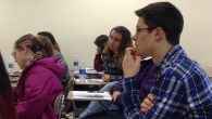 "Iona students absorbing the lessons of the Holocaust in recent class about ""Defiant Requiem."" Merri Rosenberg/JW"
