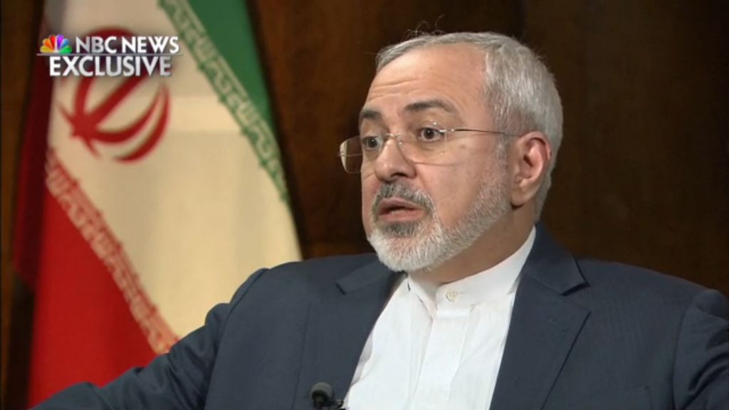 Mohammad Javad Zarif in an NBC interview on March 4, 2015 (NBC screenshot)