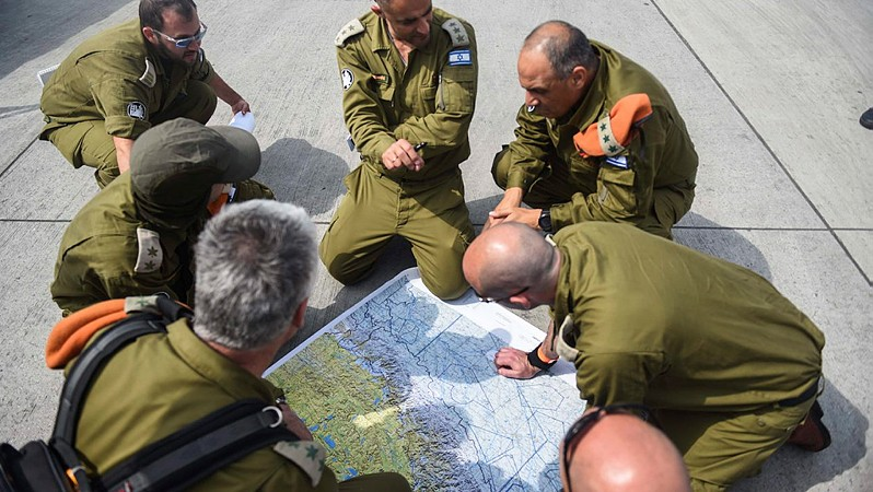An IDF team seen after landing in Nepal to help rescue efforts following the deadly earthquake, on April 28, 2015. (Photo credit: IDF)