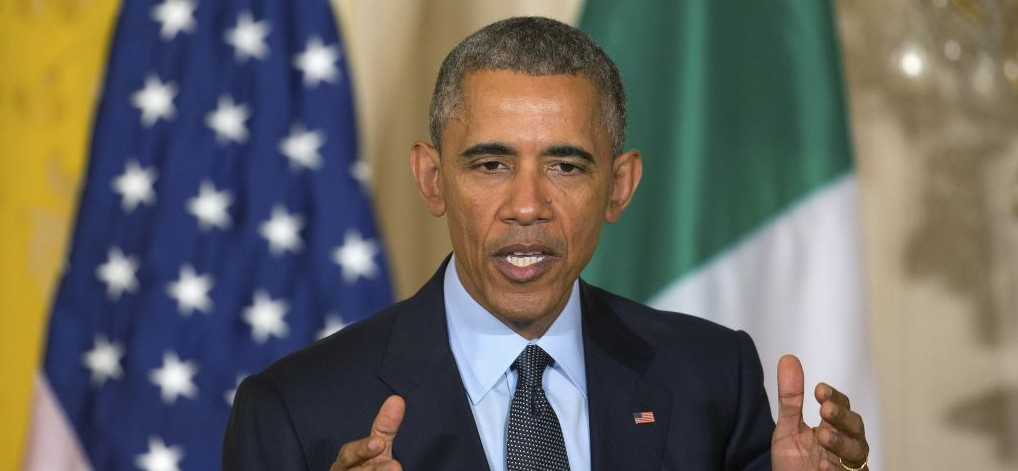 President Barack Obama speaks during a joint news conference with Italian Prime Minister Matteo Renzi in the East Room of the White House in Washington, Friday, April 17, 2015. (photo credit: AP Photo/J. David Ake)