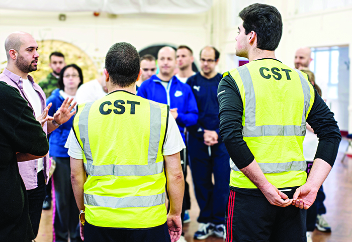 CST volunteers in training