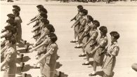 Women soldiers marching in a Yom HaZikaron parade in 1968. JTA
