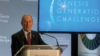 Michael Bloomberg, announced winners of his Genesis Generation Challenge grants. Courtesy of Bloomberg Philanthropies